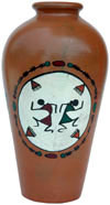 Terracotta Vase Hand made Warli Painted Decorative Art