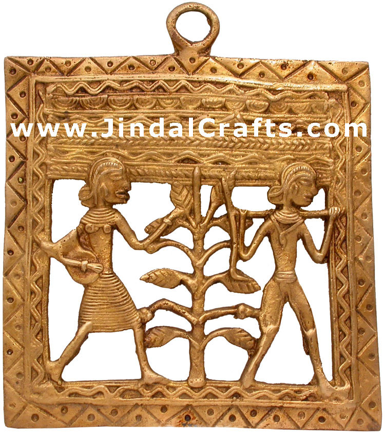 Brass Made Tribal Wall Decorative Hanging Indian Art