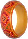 Wooden Bangle Pair - Wooden Fashion Jewelry India