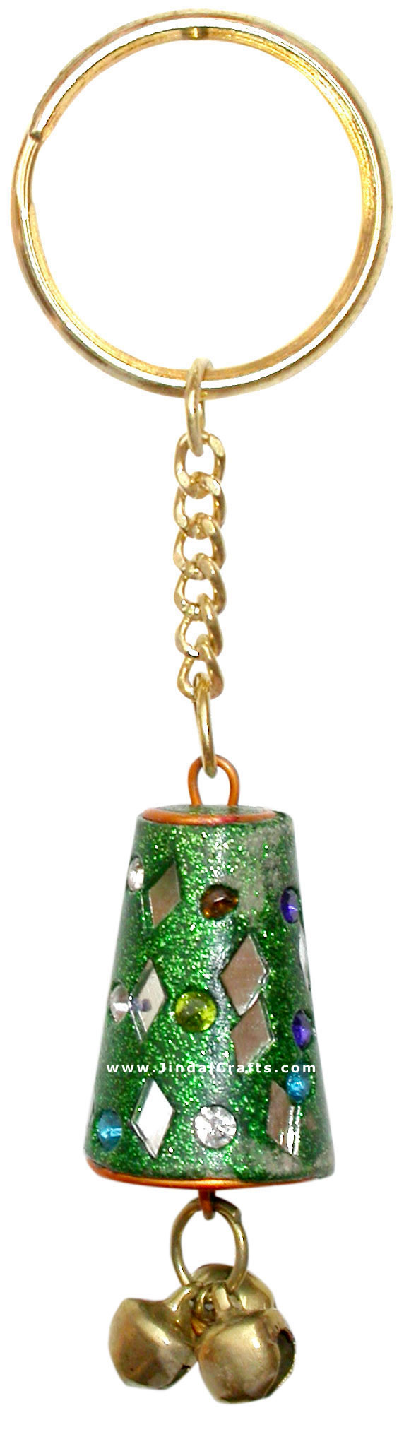 Handmade Colorful Lac Key Chain Key Ring Indian Art