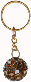 Lac Mirror Key Chain - Hand Made Traditional Indian Artifact Keyring