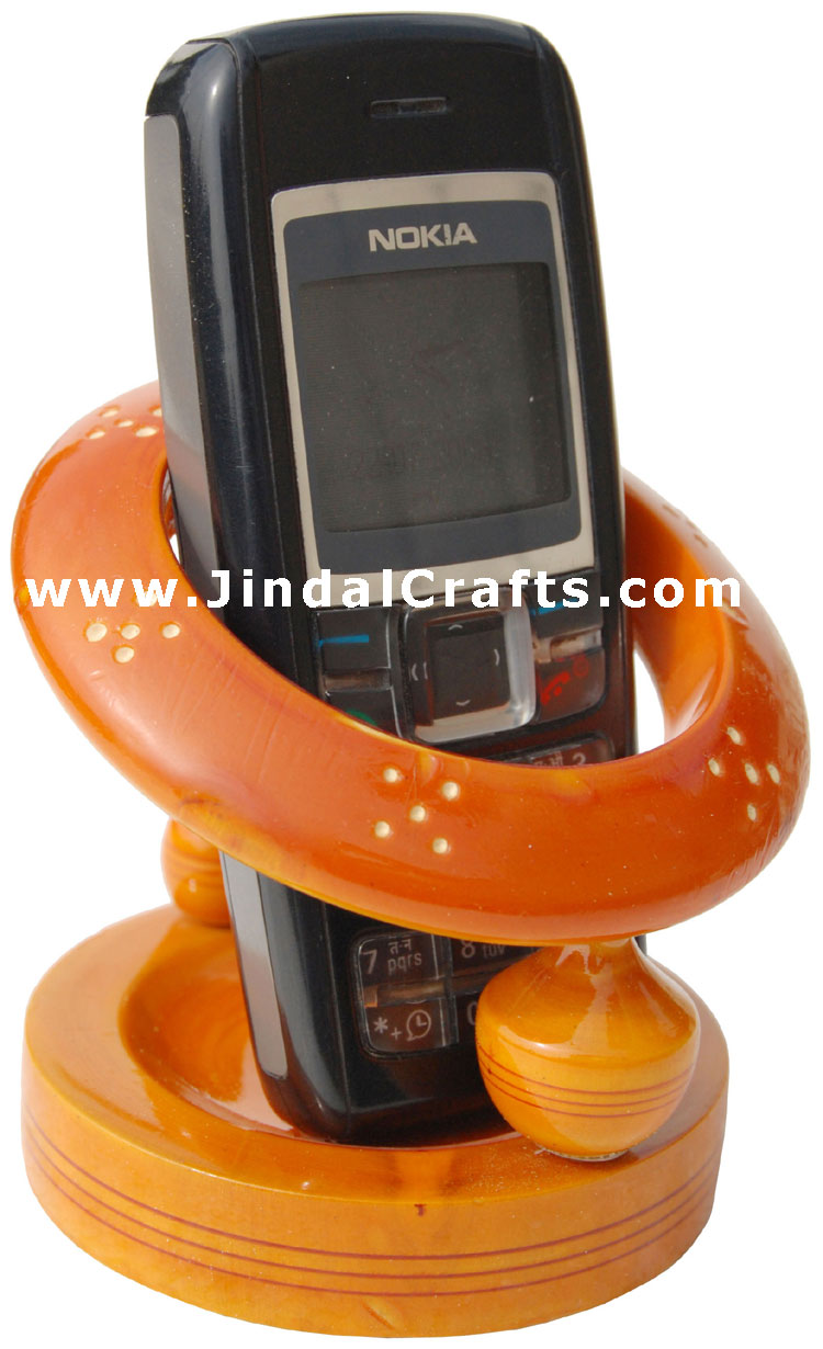 Hand Painted Wooden Mobile Stand - Vegtable Colors Used