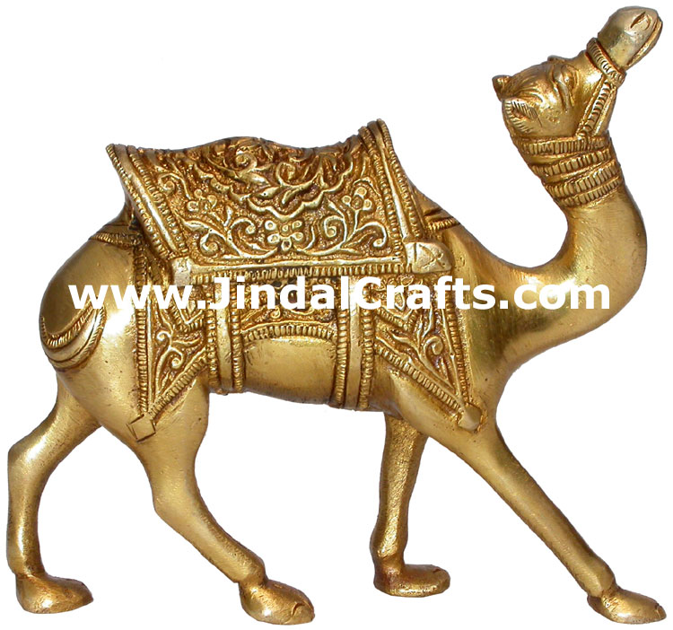 Camel Brass Animal Sculpture Figure India Handicrafts