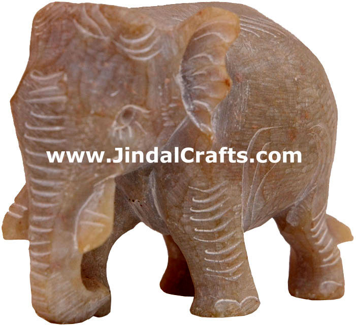 Elephant - Hand Carved Soft Stone Animals Figurines Art