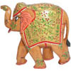 Hand Carved Hand Painted Embossed Royal Elephant India Wood Handicrafts Art Gift