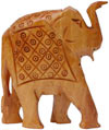 Set of Elephants - Hand Carved Wooden Animals Figures