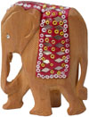 Set of 5 Elephants - Hand Carved Wooden Lac Animals Art