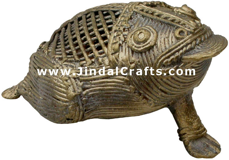 Frog - Tribal Dhokra Metal Animal Artifact from India