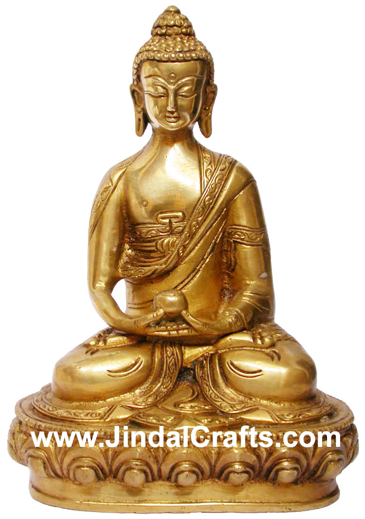 Buddha Statue in Meditation India Brass Art Siddhartha