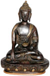 Antique Buddha Statue Handmade Buddhism Artifact India