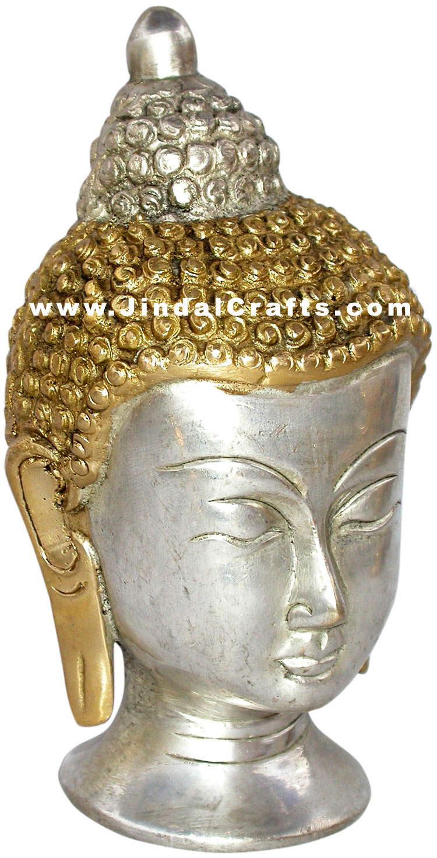 buddha head handmade indian tibetan artifact idol art