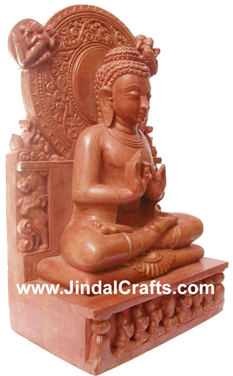 Stone Sculpture Handmade Granite Buddha Figure Art Hand Carved Buddhism Figure