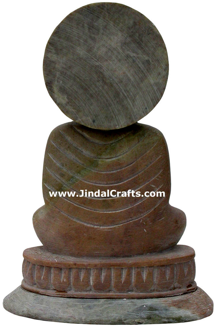 Lord Buddha Hand Carved Sculpture Stone Indian Artifact Statue Idols Handicrafts