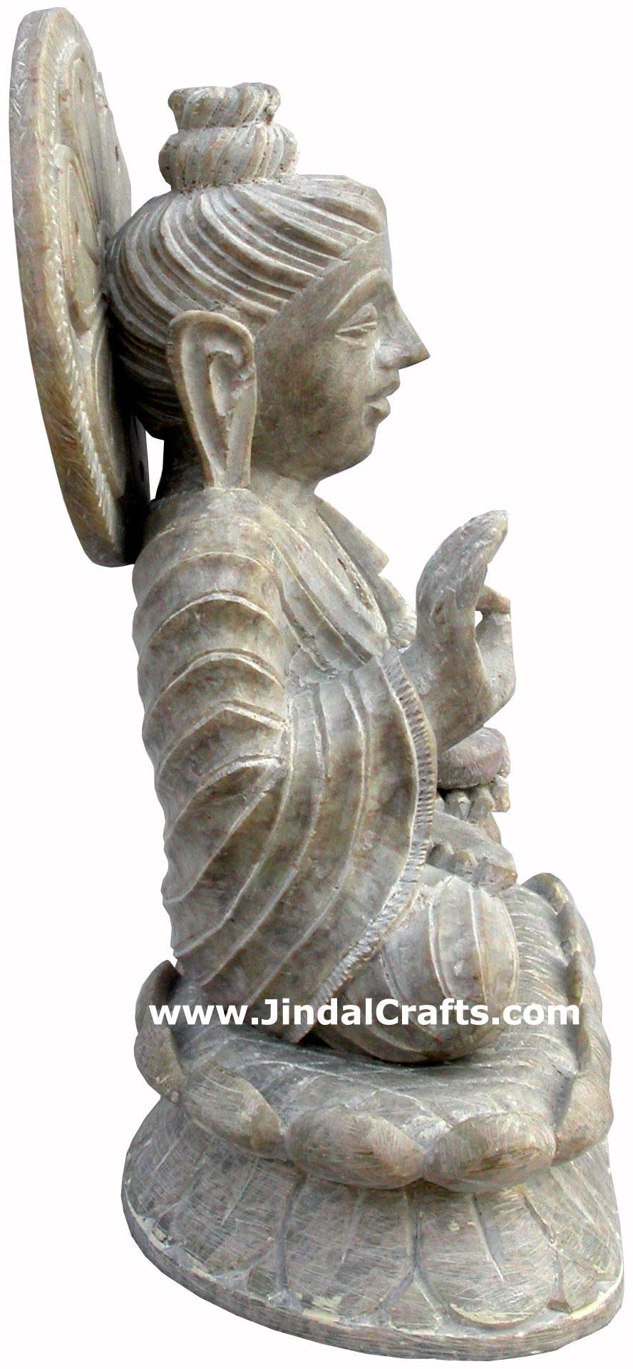 Lord Buddha Hand Carved Indian Art Craft Handicrafts Home Decor Stone Figurines