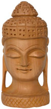 Hand Carved Wood Buddhist Sculpture India Carving Art