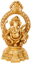 Ganesh - Hindu Religion Statue made from Brass India