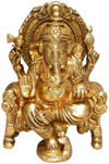 Indian God Ganesh - Handmade Brass Sculpture Hindu Art