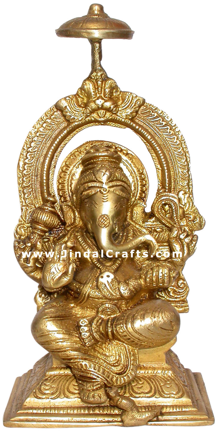 Lord Ganesh - Indian Handicrafts Brass Made Religious