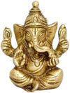 Lord Ganesha Indian Religious Brass Statue Handmade Idol Murti Arts Handicrafts
