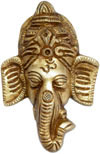 Ganesha Hanging Brass Craft Indian God Hindu Religious
