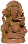 God Ganesha Hand Carved Pink Stone Indian Hinduism Carving Idol Handicrafts Arts