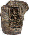 Unique Hand Carved Stone Lord Ganesha Figure Indian Art