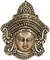 Durga Face Wall Hanging Indian Goddess Brass Sculpture