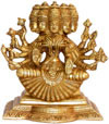 Gayatri Statue Hindu Goddess Brass Sculpture India Arts