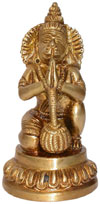 Hindu Deities Veer Hanuman India Brass Carving Artefact