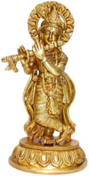 Lord Krishana Indian God Statue Religious Handicraft Art Idol Statue Handicrafts