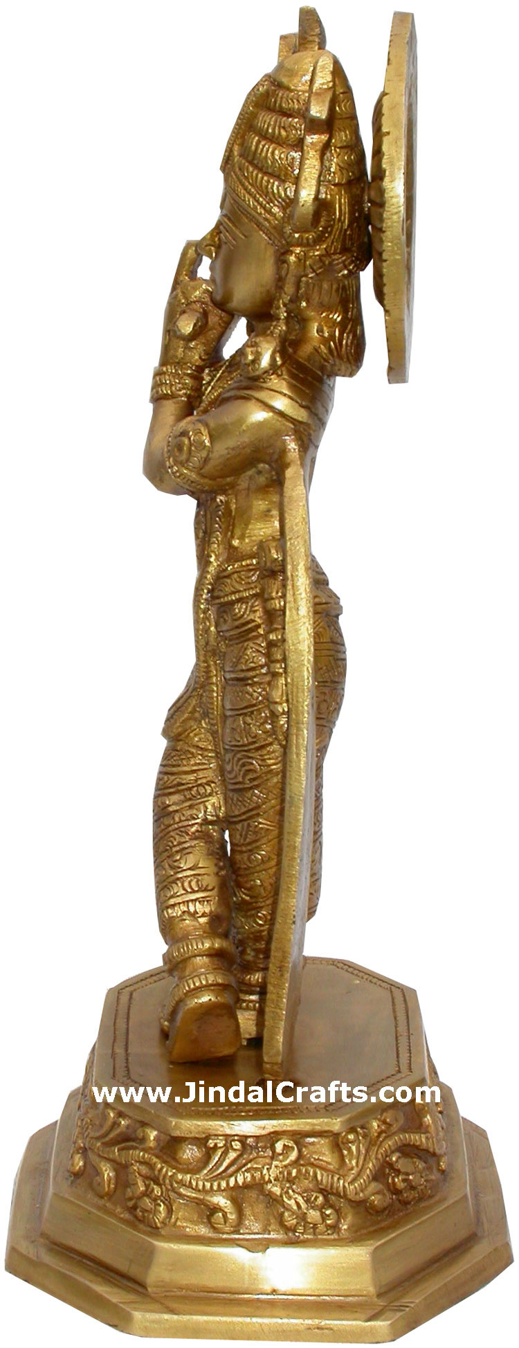Lord Krishna Hindu God Brass Sculpture Figurine Art Indian