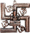 Lord Ganesha Om Swastik Wall Decor India Handicrafts