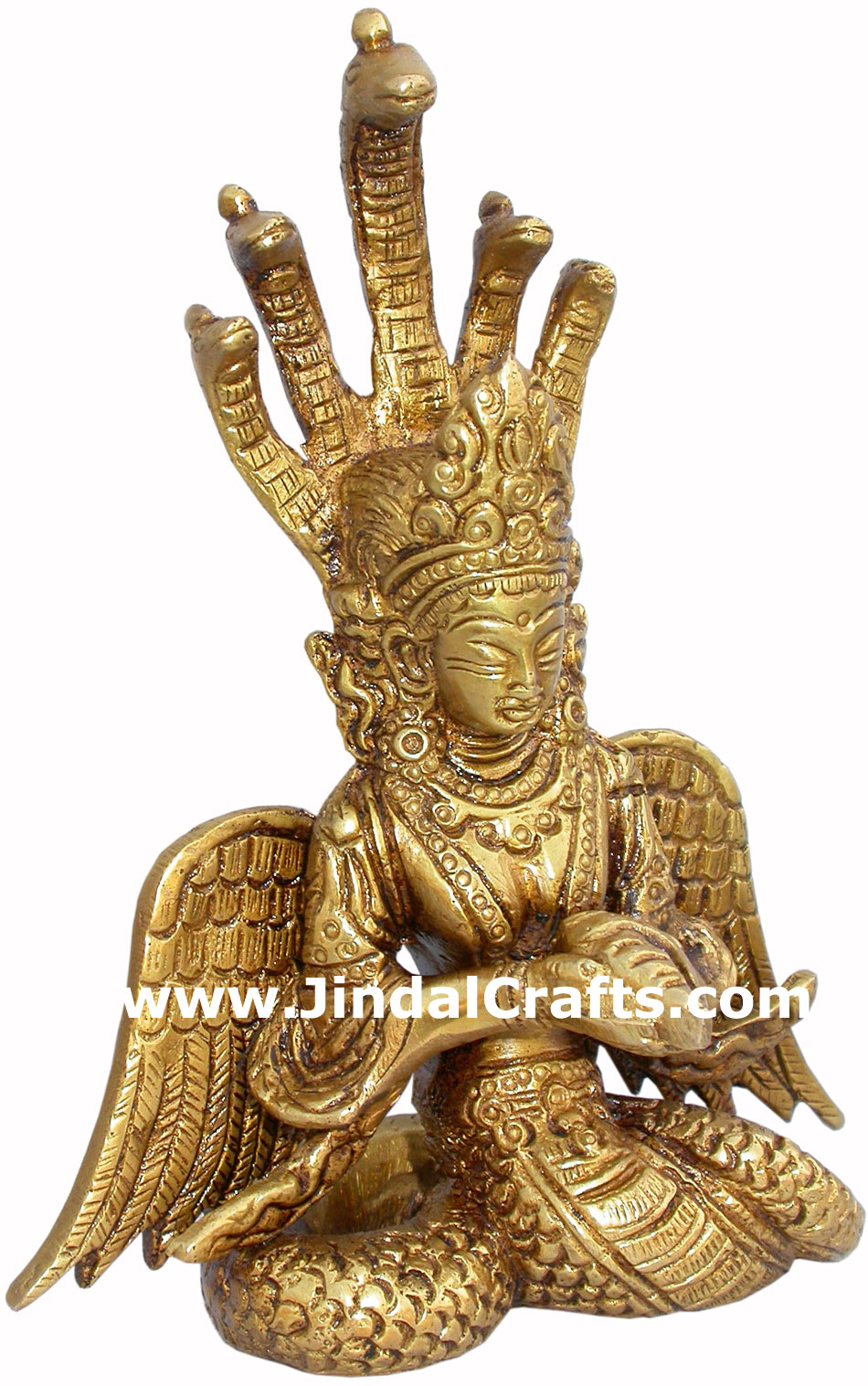 Mermaid Hand Carved Indian Art Craft Handicraft Home Decor Brass Figurine