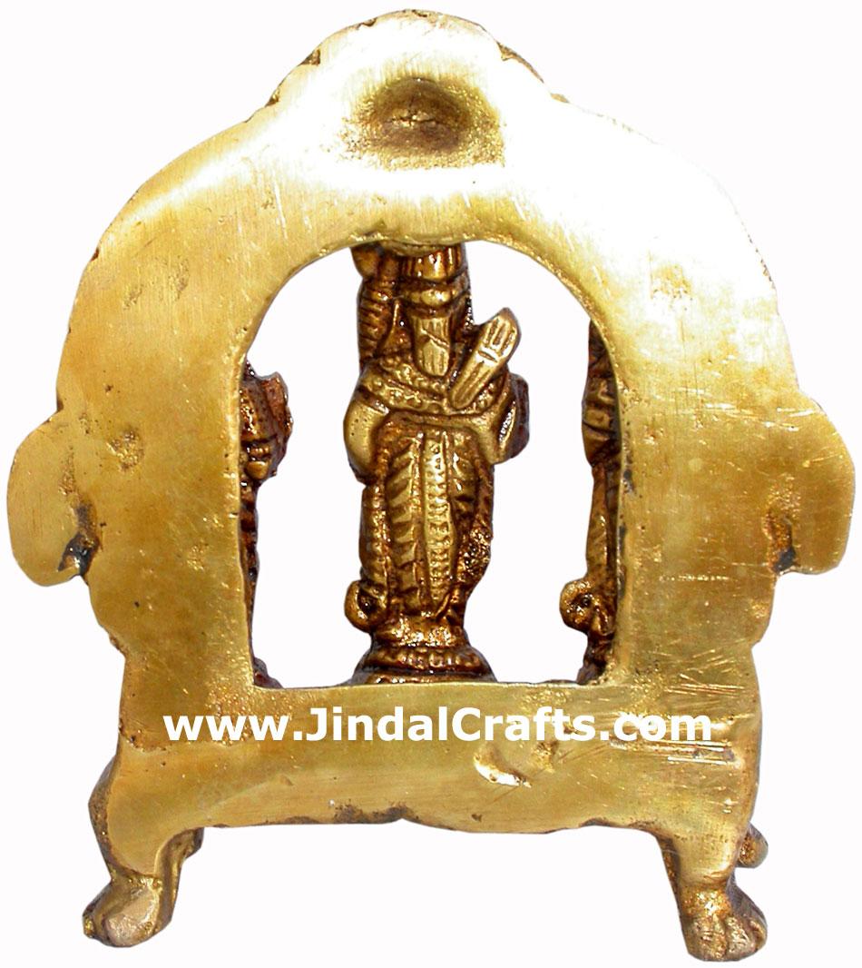 Ram Price >> Ram Darbar - Hand Carved Indian Art Craft Handicraft Home Decor Brass Figurine