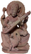 Hindu Deities Goddess Saraswati India Stone Carving Art
