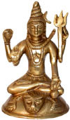Hindu Deities God Shiva India Brass Carving Artefacts