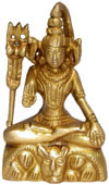 Lord Shiva Indian God Brass Figurines Hand Carved Art Hindu Religious Arts
