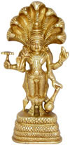 Vishnu Indian God Brass Sculpture Handmade Arifact Arts