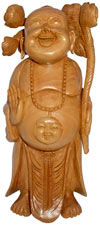 Hand Crafted Laughing Buddha Feng Shui Good Luck Vaastu