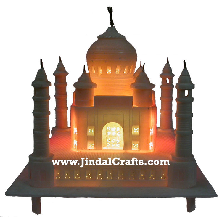 White Marble Handmade Taj Mahal Replica India Stone Art