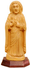 Handcrafted Wooden God Jesus Christian Sculpture Art