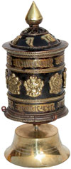 Prayer Wheel Tibetan Buddhism Religious Ritual Crafts