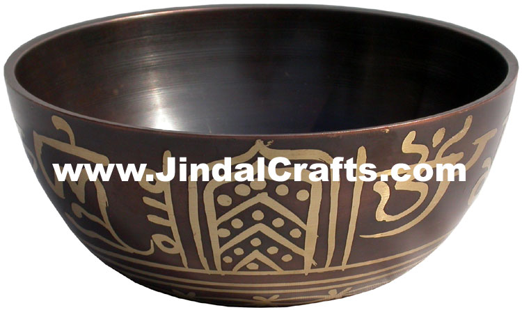 Handcarved Brass Bronze Five Metals Seven Metals Singing Bowl Indian Buddhism