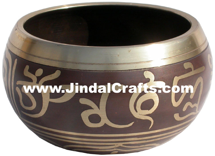Handcarved Brass Bronze Five Metals Seven Metals Singing Bowl Buddhisht Crafts