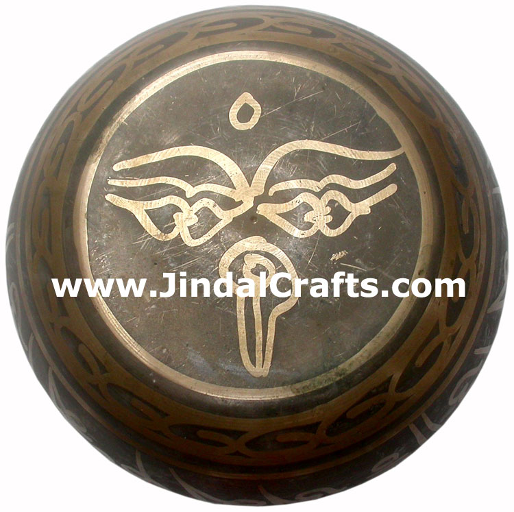 Handcarved Brass Bronze Five Metals Seven Metals Singing Bowl India Buddhisht