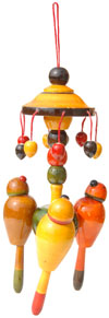 Handmade Handpainted Wooden Toy India Art