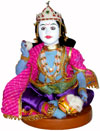 Bal Gopal Krishna Handmade Traditional Indian Collectible Costume Doll Home Art