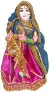 Handmade Traditional Costume Doll India - Clapping Lady