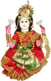 Goddess Lakshmi Handmade Traditional Indian Hindu Collectible Costume Doll Luxmi