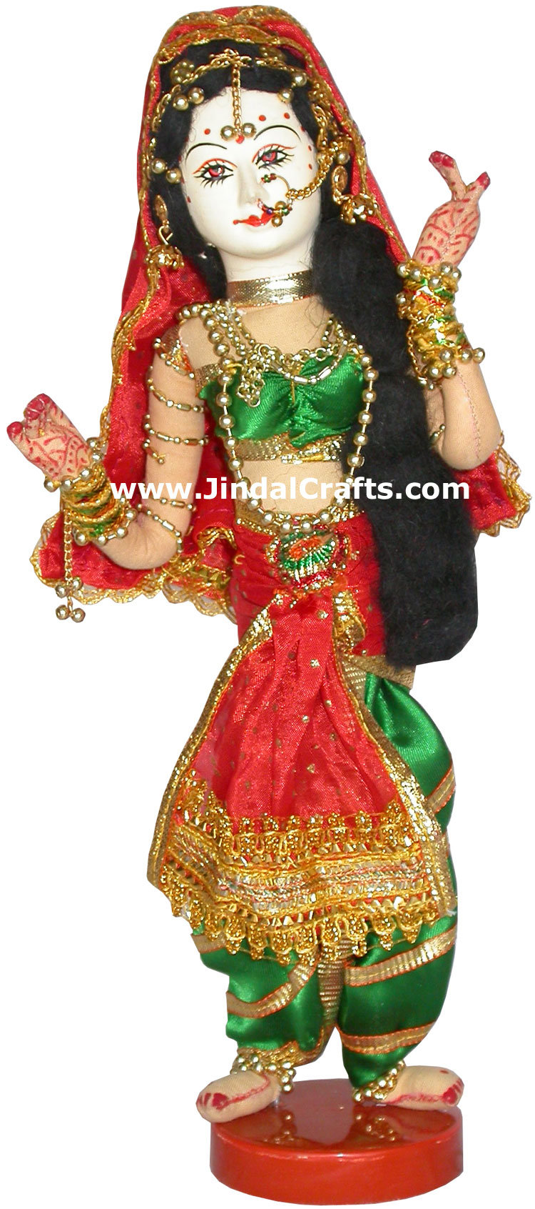 Handmade Traditional Indian Collectible Costume Doll Home